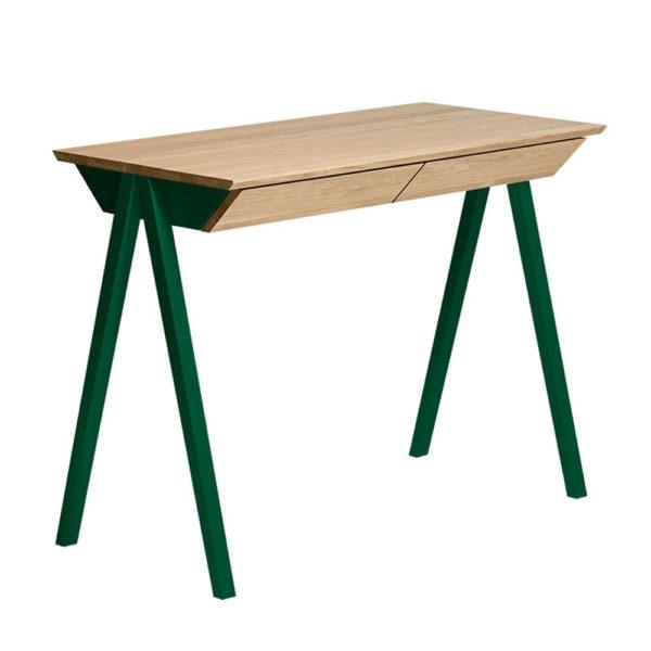 vogel masivna pisalna miza zelena