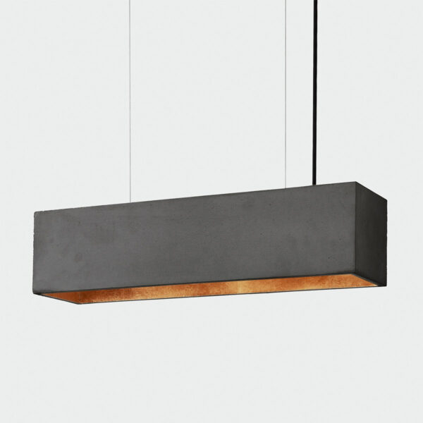 [B4] Viseča betonska stropna luč pravokotnik (temna)