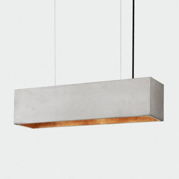 [B4] Viseča betonska stropna luč pravokotnik (svetla)