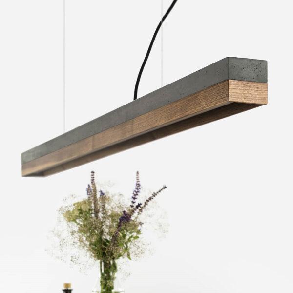 Lesena betonska stropna luč oreh (temen) [C1]