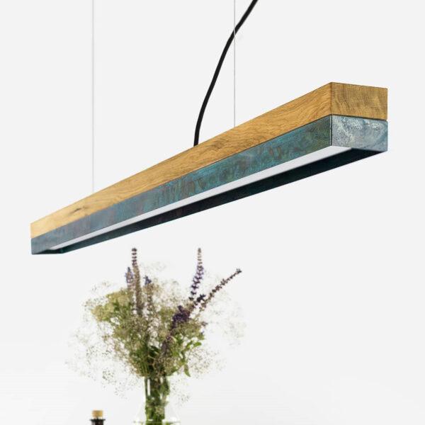 Lesena stropna luč oksidiran baker/hrast