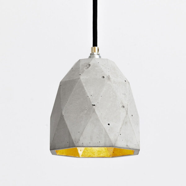 [T1] Viseča betonska luč triangel (svetla)